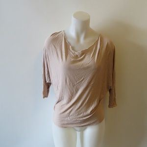 THE ROW 3/4 RELAXED DOLMAN SLEEVE BLOUSE TOP S *